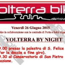 Volterra by night in bicicletta